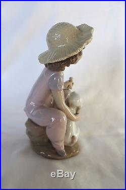 Porcelain Lladro Figurine 6680 Friends Forever Girl With Dog- MINT