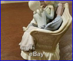 RARE LLADRO #5229 STORY TIME CHILDREN ON SOFA WITH DOG Excellent condition