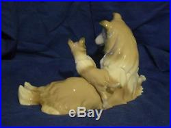 RARE LLADRO COLLIE DOG WithPUPPY -#6459 with box