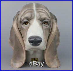 RARE Lladro Dog Head INCREDIBLE DETAILS 1st QUALITY