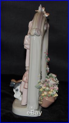 RARE Lladro Figurine PLEASE COME HOME #6502-Dogs in Window A Ramos MIB