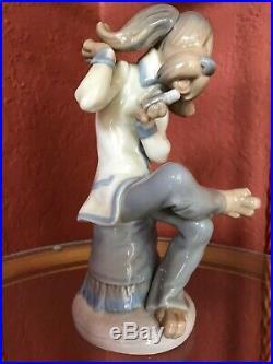 RARE Lladro Lead Singer RETIRED DOG BAND Porcelain Dog Figurine