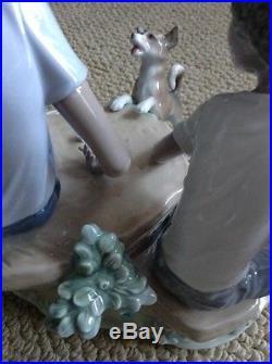 Retired Children's Games Black Legacy Lladro Porcelain 5379 Glazed Mint Dog
