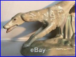 Rare 1960's early VINTAGE LLADRO art deco style greyhound/borzoi/wolfhound dog
