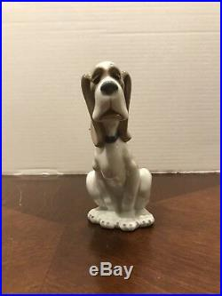 Rare 1982 Lladro Nao Sad Hound Dog Porcelain Figurine Retired Vintage