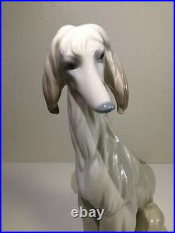 Rare Lladro Afghan Brown Dog Retired Almost 12 Hight Large, Mint