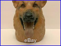 Rare Lladro German Shepherd Dog Bust Sculpture Figurine 9.5 Tall