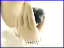 Rare Lladro Goyesca Sanisidro Fruitful Harvest Girl Dog Basket Figurine Stand