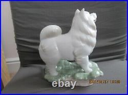 Rare Lladro Spanish Porcelain Samoyed Dog Figurine Zodiac Collection 8143