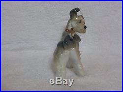 Rare Lladro Terrier Dog With Bird on Tail Unexpected Visit Figurine #6829