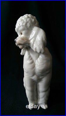 Retired 1985 LLADRO French POODLE NAO Jose Roig VTG White Dog Porcelain Figurine