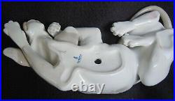 Retired Lladro #1067 Old Hound Dog Reclining Large 10 Long Made In Spain