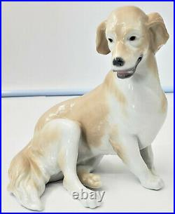 Retired Lladro 8345 Golden Retriever Sitting Dog No Box S1