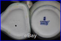 Retired Lladro Bashful Bather #5455 Girl K9 Dog Signed Porcelain Figurine w Box