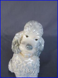 Retired Lladro Porcelain #325.13 POODLE Very old (50+ yrs), very rare