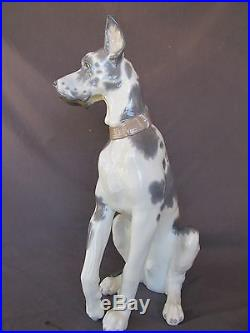 Retired Lladro Porcelain #6558 Great Dane Perfect condition withbox