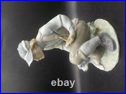 Retired Lladro Sportsman Porcelain Figurine #6096 Young Man Gun & Hunting Dog