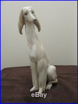 Retired Lladro porcelain Afghan dog #1069