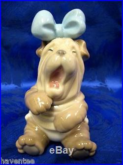 Rise And Shine Dog Puppy Porcelain Figurine Nao By Lladro 1729