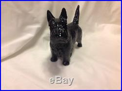 Scottie/Terrier Nymphenburg Porcelain Dog, Charcoal