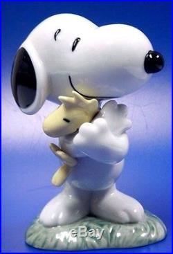 Snoopy With Woodstock Peanuts Charlie Brown Dog 2016 Figurine Nao By Lladro 531