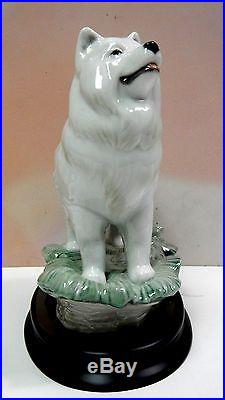 The Dog Animal On Stand Figurine By Lladro 8143