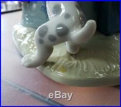 Vintage 1971-1974 Lladro Porcelain Clown with Dog Figurine (#5059)