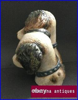 Vintage 20th spain Original Rare porcelain dogs Figurine Lladro marked
