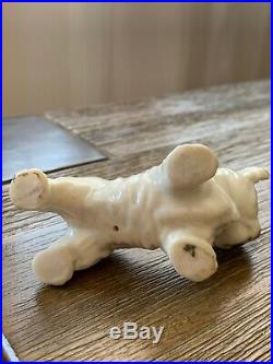 Vintage German Skye Terrier DOG Black & White Animal Porcelain Figurine