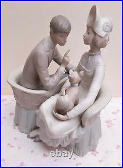 Vintage LLADRO Matte Figurine #4830 You & Me Man, Lady & Dog Seated