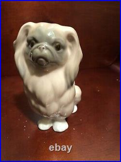 Vintage LLADRO PEKINGESE DOG FIGURINE excellent condition