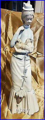 Vintage Lladro 4893 My Dog Porcelain Figurine Lady With Dog Retired 2004