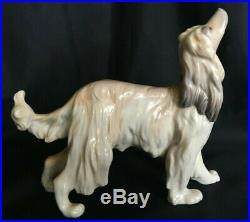 Vintage Lladro Afghan Hound Dog Retired 1985 Collectible #01001282