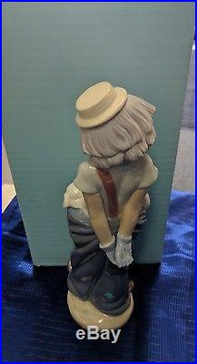 Vintage Lladro Collector's Society Circus Clown #7600 Little Pals 1985 Dogs
