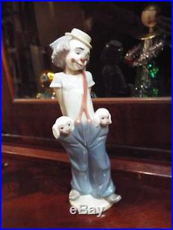Vintage Lladro Collector's Society Circus Clown #7600 Little Pals 1985 Dogs Nr
