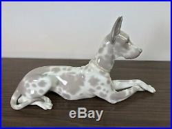 Vintage Lladro Dog Figurine 1068 Great Dane 1970s Large 12
