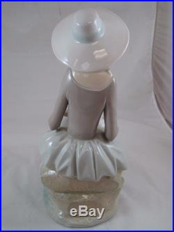 Vintage Lladro Figurine Girl with Dog #4806G Large Size 13 1/2 Free US Shipping