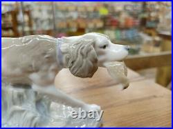 Vintage Lladro Hunting Bird Dog withQuail 308.13 Pre 1960