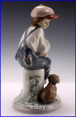 Vintage Lladro My Best Friend Boy Sitting With Dog Porcelain Figurine 5401