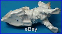 Vintage Lladro Papillon Dog Figurine #4857 Retired 11 Long