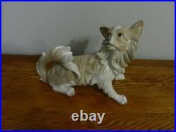 Vintage Lladro Papillon Dog Figurine Retired 11 Long #4857
