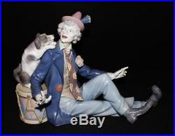 Vintage Lladro Porcelain 5763 MUSICAL PARTNERS Gloss Finish Man with Dog