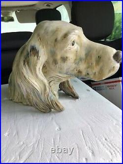 Vintage Lladro Setter Dog Head