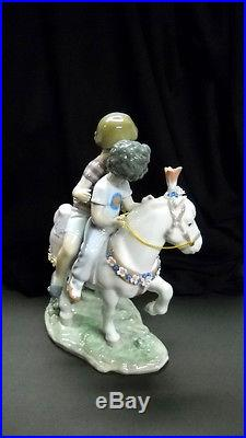 Vintage Retired Lladro #6430 PONY RIDE Children on Fancy Pony withDog (Mint)
