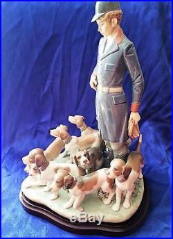 Vtg Rare 1985 Lladro Pack of Hunting Dogs 5342 Ltd Ed 645/3000 RARE Signed $950