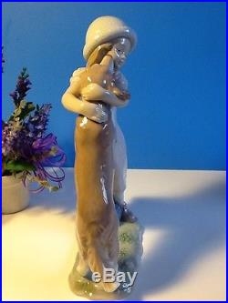Warm Welcome Girl With Dog By Lladro #6903
