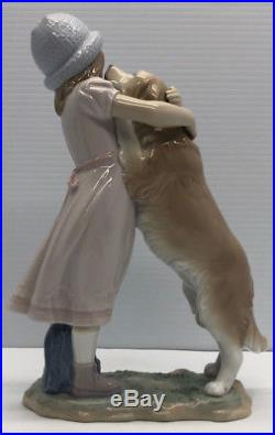 Warm Welcome Girl With Dog Porcelain Figurine By Lladro 6903