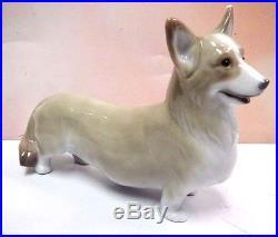 Welsh Corgi Pembroke Dog Figurine 2008 By Lladro Porcelain 8339