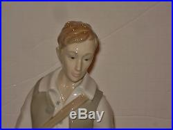 ZAPHIR Early LLADRO HUGE Boy with DOG AND GOATS Statue Figurine RETIRED
